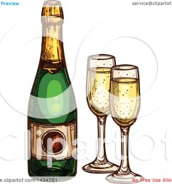 clipart of a sketched bottle of champagne and glasses royalty free vector illustration by vector [ 1080 x 1024 Pixel ]