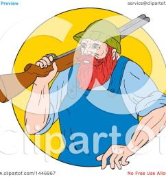 clipart of a sketched drawing styled lumberjack paul bunyan carrying a shotgun over his [ 1080 x 1024 Pixel ]