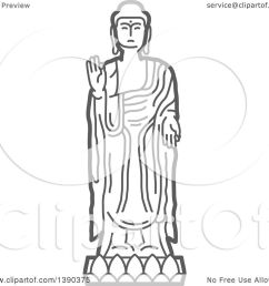 clipart of a sketched gray buddha statue royalty free vector illustration by vector tradition sm [ 1080 x 1024 Pixel ]