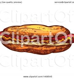 clipart of a sketched hot dog royalty free vector illustration by vector tradition sm [ 1080 x 1024 Pixel ]