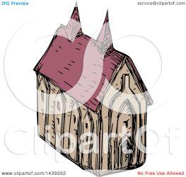 medieval church illustration clipart royalty vector sketched patrimonio clip copyright