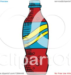 clipart of a sketched soda bottle royalty free vector illustration by vector tradition sm [ 1080 x 1024 Pixel ]