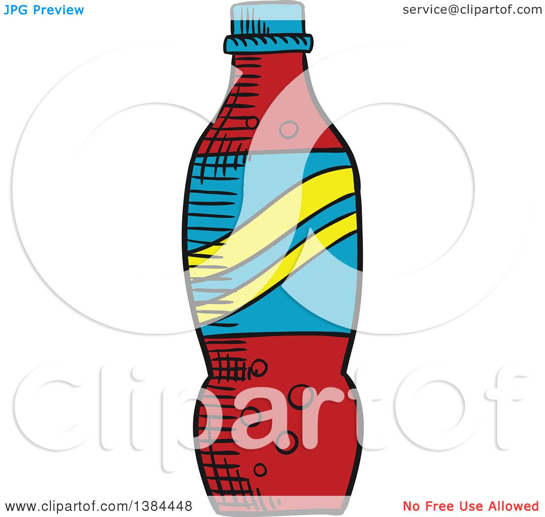hight resolution of clipart of a sketched soda bottle royalty free vector illustration by vector tradition sm