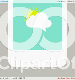 clipart of a smart phone with a sun and cloud chat balloon on the screen over tan royalty free vector illustration by elena [ 1080 x 1024 Pixel ]