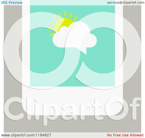 small resolution of clipart of a smart phone with a sun and cloud chat balloon on the screen over tan royalty free vector illustration by elena