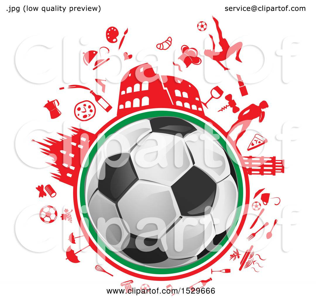 clipart of a soccer