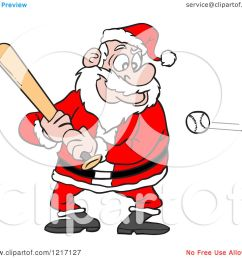 clipart of a sporty santa baseball batter royalty free vector illustration by lafftoon [ 1080 x 1024 Pixel ]