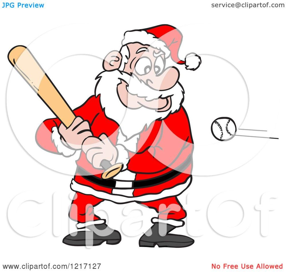 medium resolution of clipart of a sporty santa baseball batter royalty free vector illustration by lafftoon