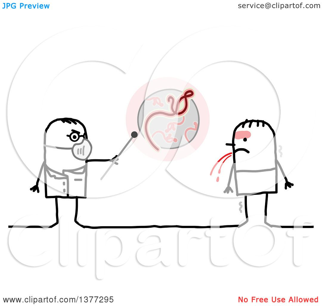 Clipart Of A Stick Male Doctor Talking To A Patient With
