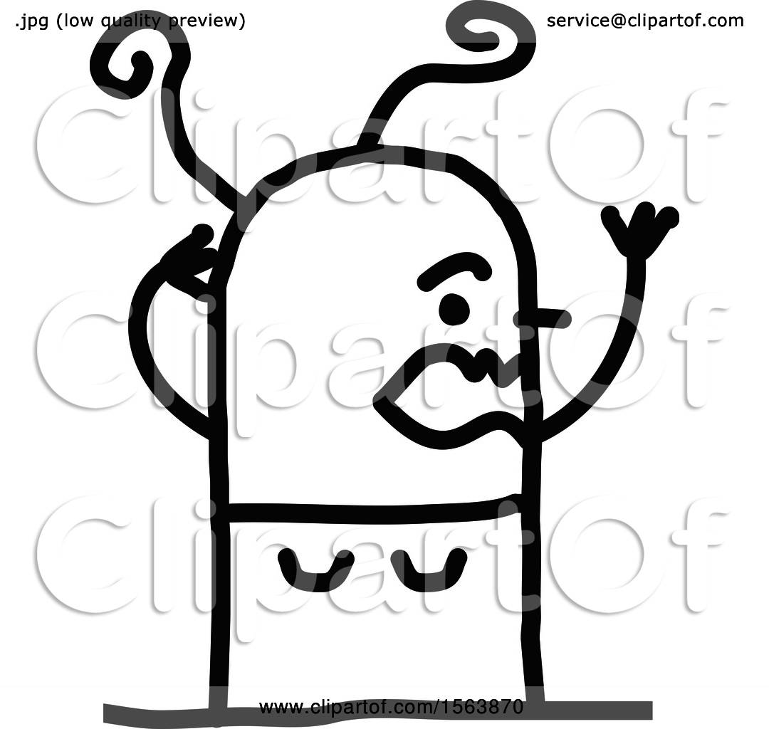 hight resolution of clipart of a stressed stick woman royalty free vector illustration by nl shop