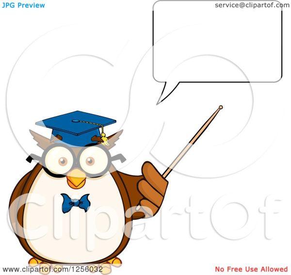 Talking Owl Clip Art