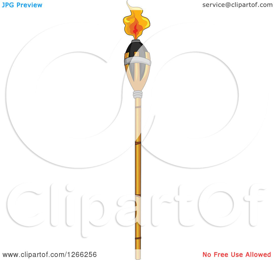 Clipart Of A Tiki Torch