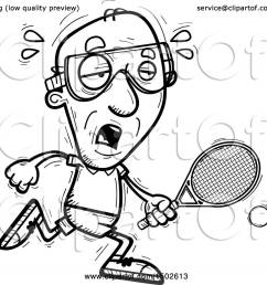 clipart of a tired senior man racquetball player royalty free vector illustration by cory thoman [ 1080 x 1024 Pixel ]