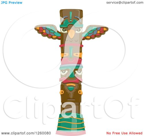 small resolution of clipart of a totem pole royalty free vector illustration by bnp design studio
