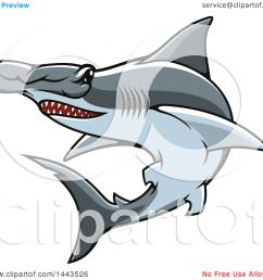 clipart of a tough hammerhead shark mascot royalty free vector illustration by vector tradition sm [ 1080 x 1024 Pixel ]