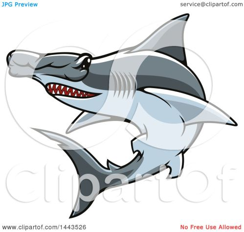 small resolution of clipart of a tough hammerhead shark mascot royalty free vector illustration by vector tradition sm