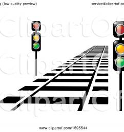 clipart of a train track and lights royalty free vector illustration by lal perera [ 1080 x 1024 Pixel ]