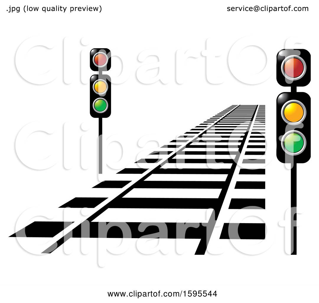 hight resolution of clipart of a train track and lights royalty free vector illustration by lal perera