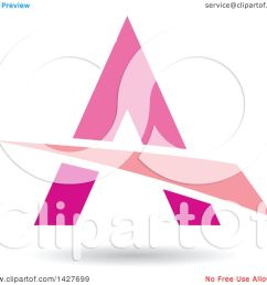clipart of a triangular pink letter a logo or icon design with a swoosh and shadow royalty free vector illustration by cidepix [ 1080 x 1024 Pixel ]