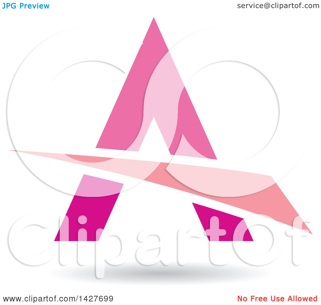 hight resolution of clipart of a triangular pink letter a logo or icon design with a swoosh and shadow royalty free vector illustration by cidepix