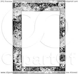 border rose floral illustration clipart royalty vector prawny copyright