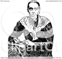 writing lady illustration clipart royalty prawny vector