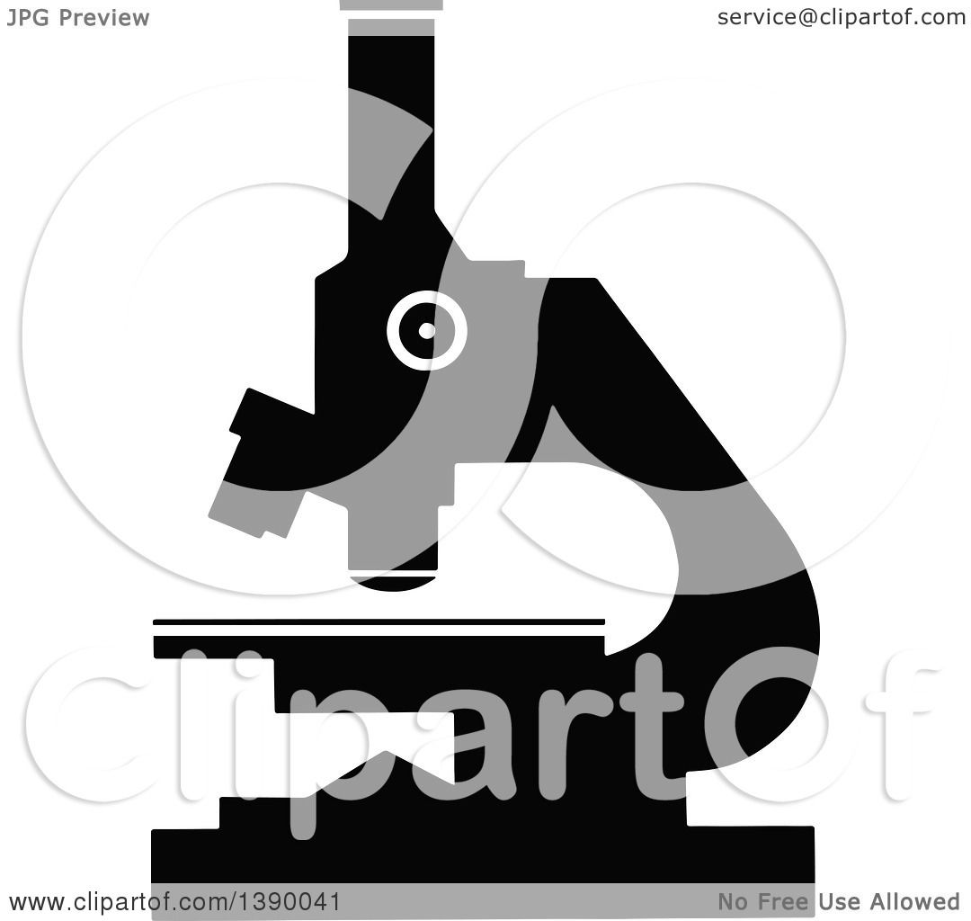 hight resolution of clipart of a vintage black and white microscope royalty free vector illustration by prawny vintage