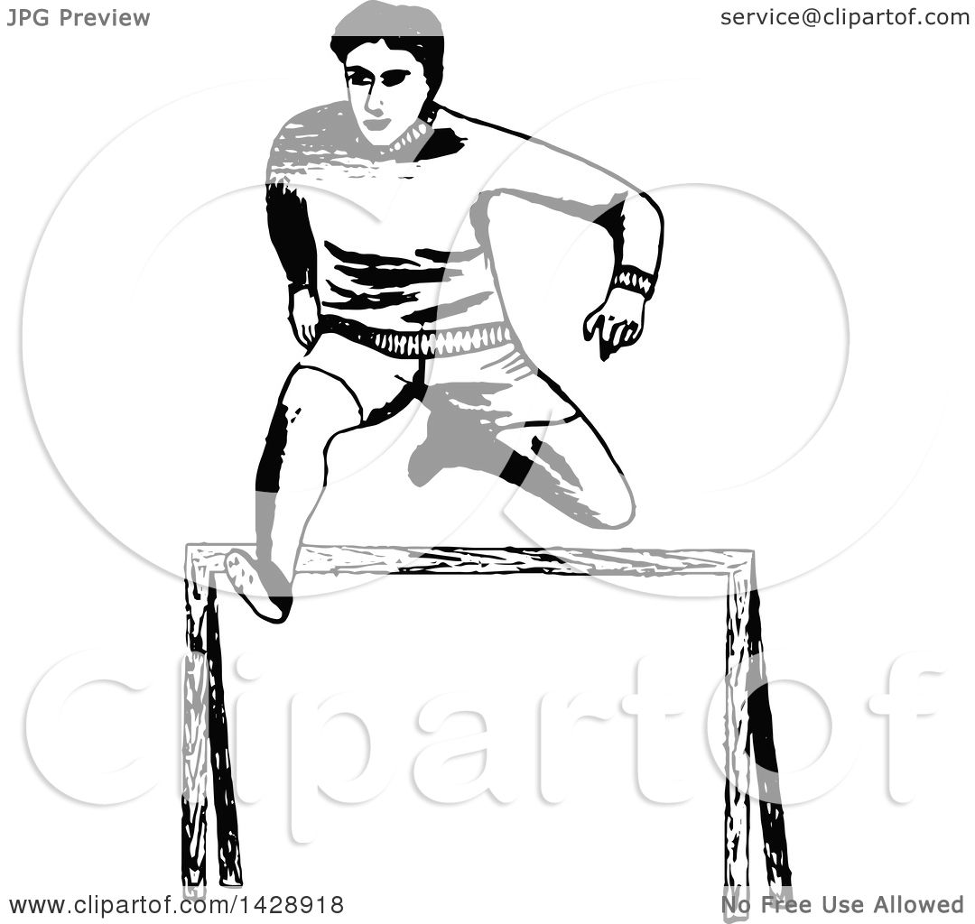 Clipart Of A Vintage Black And White Sketched Track