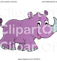 clipart of a walking purple rhino royalty free vector illustration by visekart [ 1080 x 1024 Pixel ]