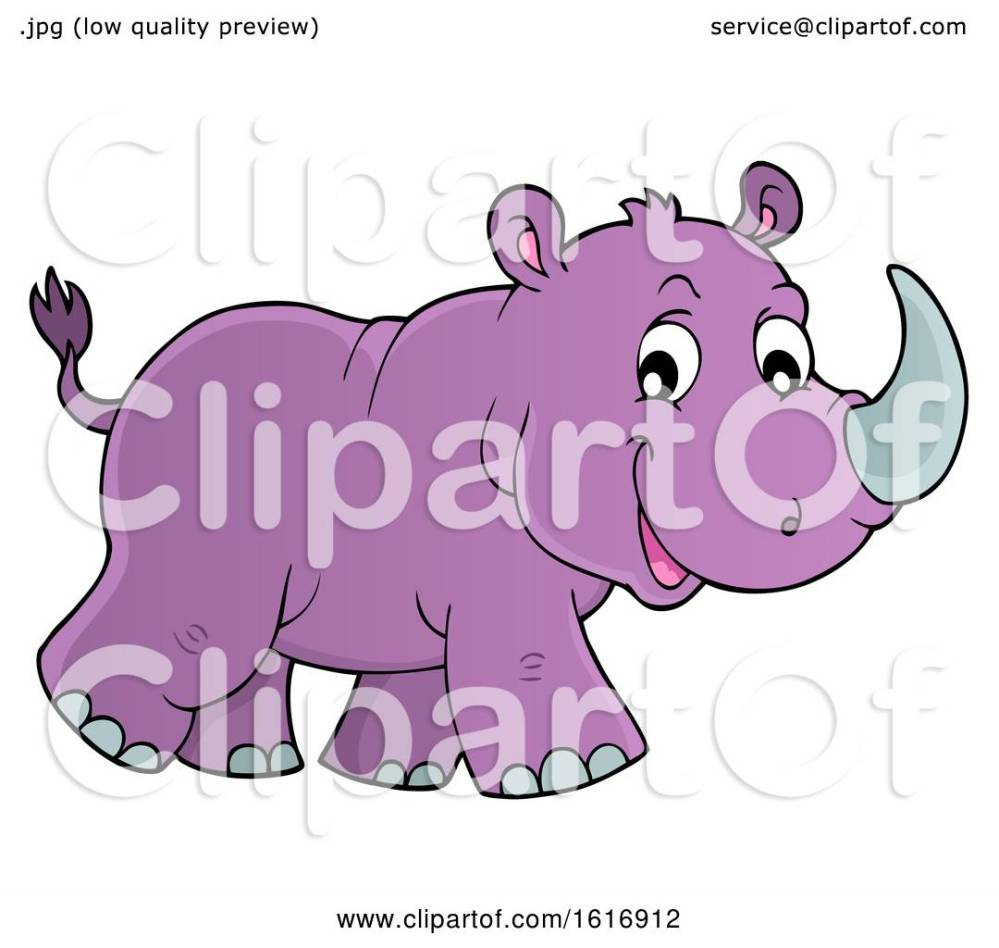 medium resolution of clipart of a walking purple rhino royalty free vector illustration by visekart