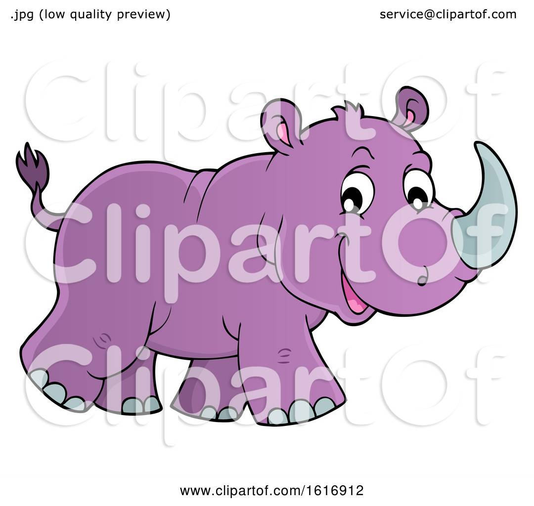 hight resolution of clipart of a walking purple rhino royalty free vector illustration by visekart