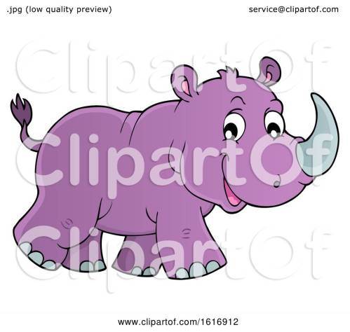 small resolution of clipart of a walking purple rhino royalty free vector illustration by visekart