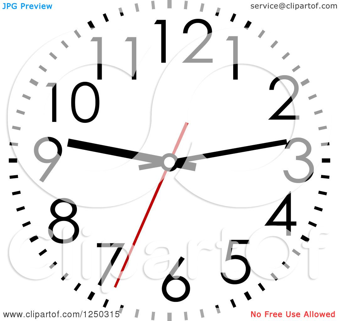 Clipart Of A Wall Clock