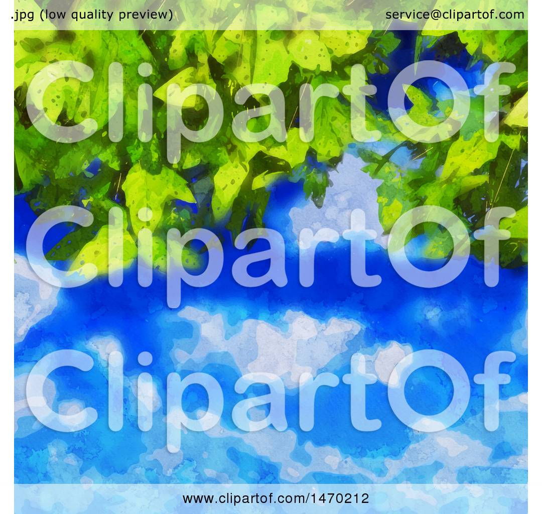hight resolution of clipart of a watercolor painted leaves and sky background royalty free vector illustration by kj pargeter