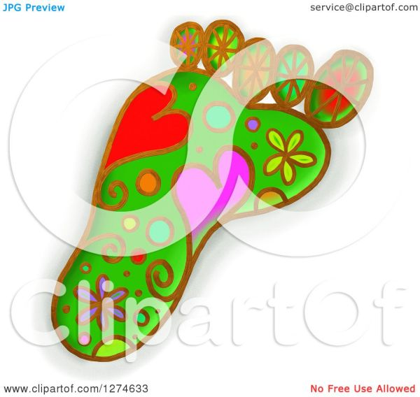 Clipart Of Whimsical Foot - Royalty Free Illustration
