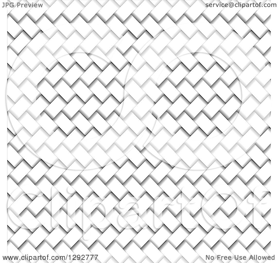 Clipart of a White and Gray Basket Weave Texture