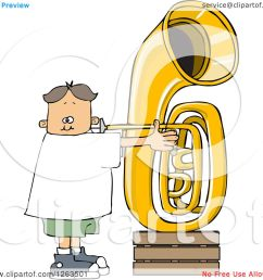 clipart of a white boy playing a tuba royalty free vector illustration by djart [ 1080 x 1024 Pixel ]