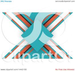 orange background turquoise illustration card business royalty kj pargeter clipart vector clip