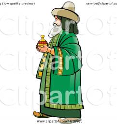 clipart of a wise man holding a gift royalty free vector illustration by lal perera [ 1080 x 1024 Pixel ]