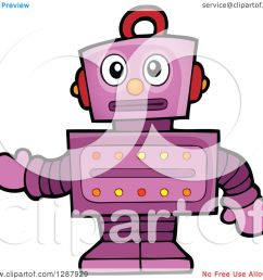 clipart of a worried purple robot gesturing royalty free vector illustration by visekart [ 1080 x 1024 Pixel ]