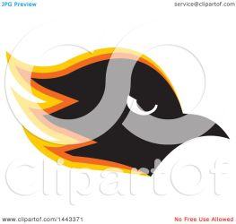 hawk orange head yellow mascot clipart profiled illustration vector colormagic royalty clip