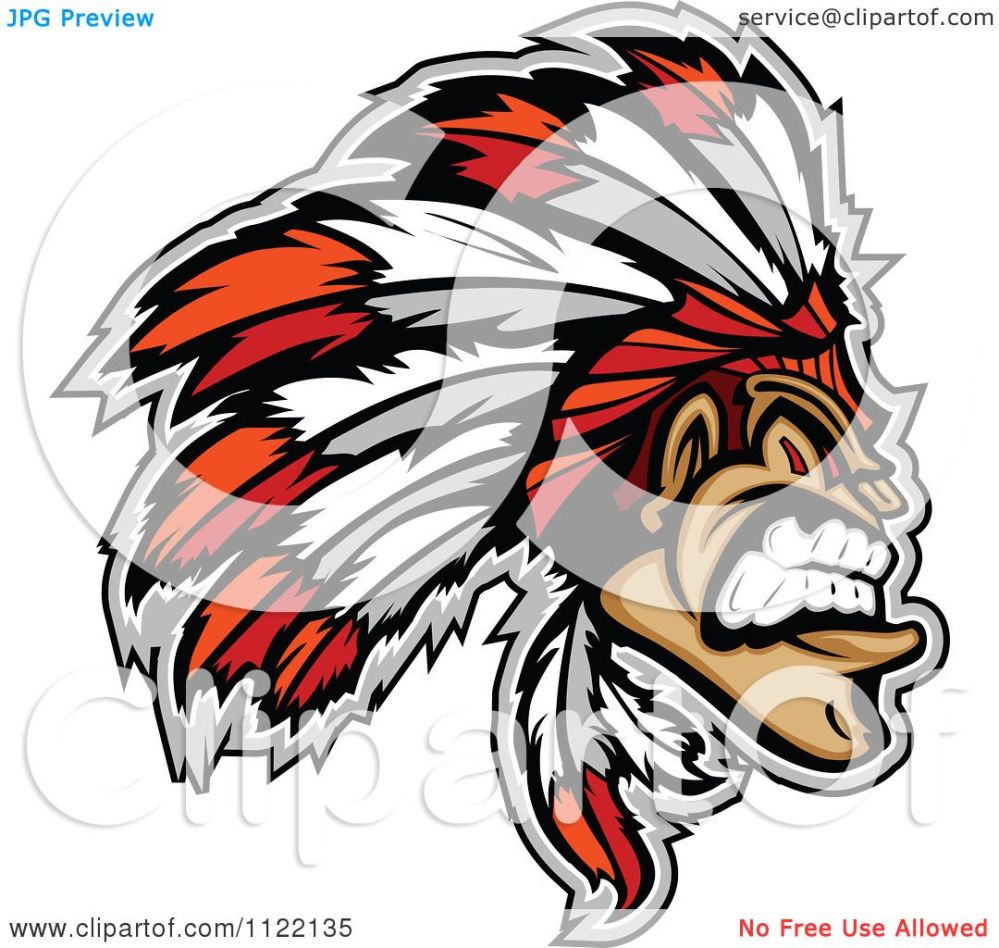 medium resolution of clipart of an aggressive native american indian chief royalty free vector illustration by chromaco