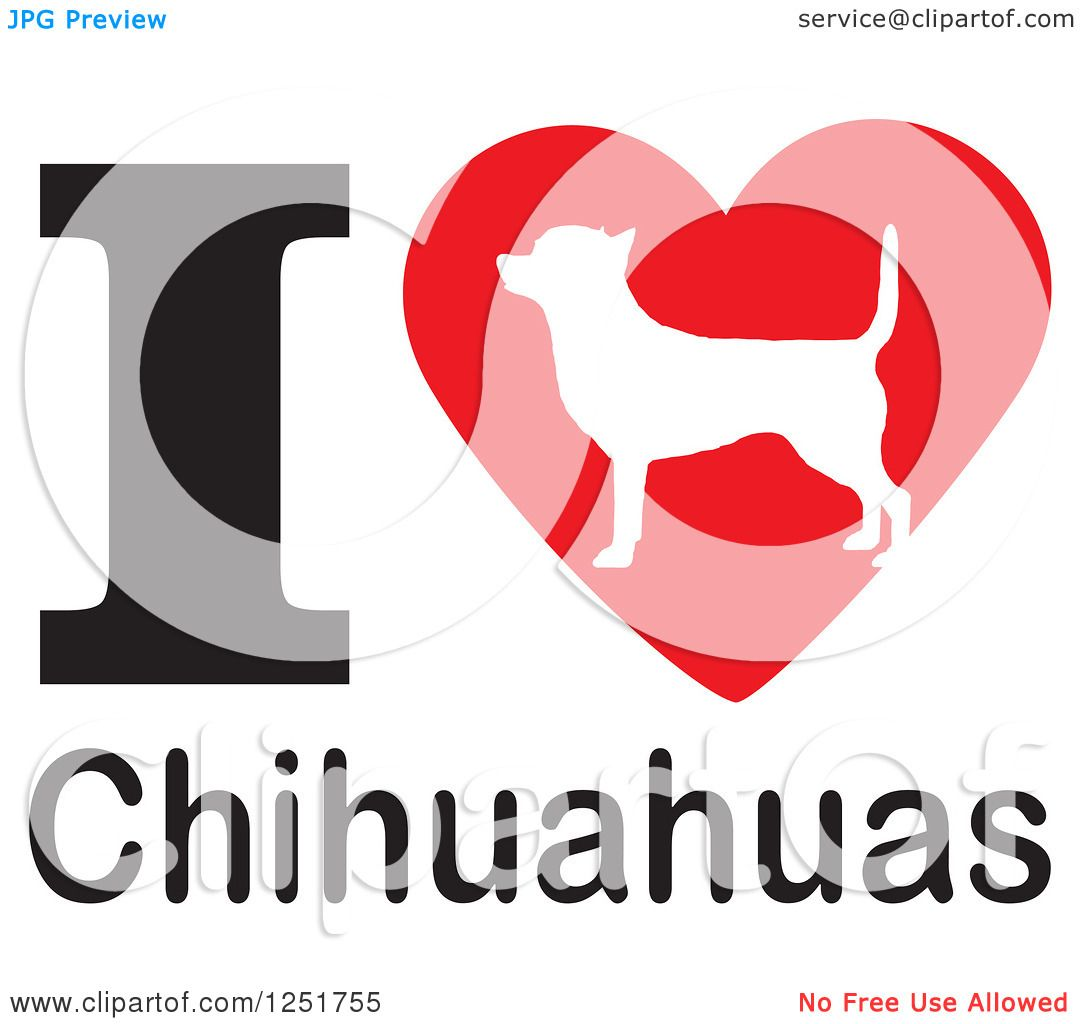 Download Clipart of an I Heart Chihuahuas Dog Design - Royalty Free ...