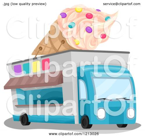 small resolution of clipart of an ice cream truck with a giant cone on top royalty free vector