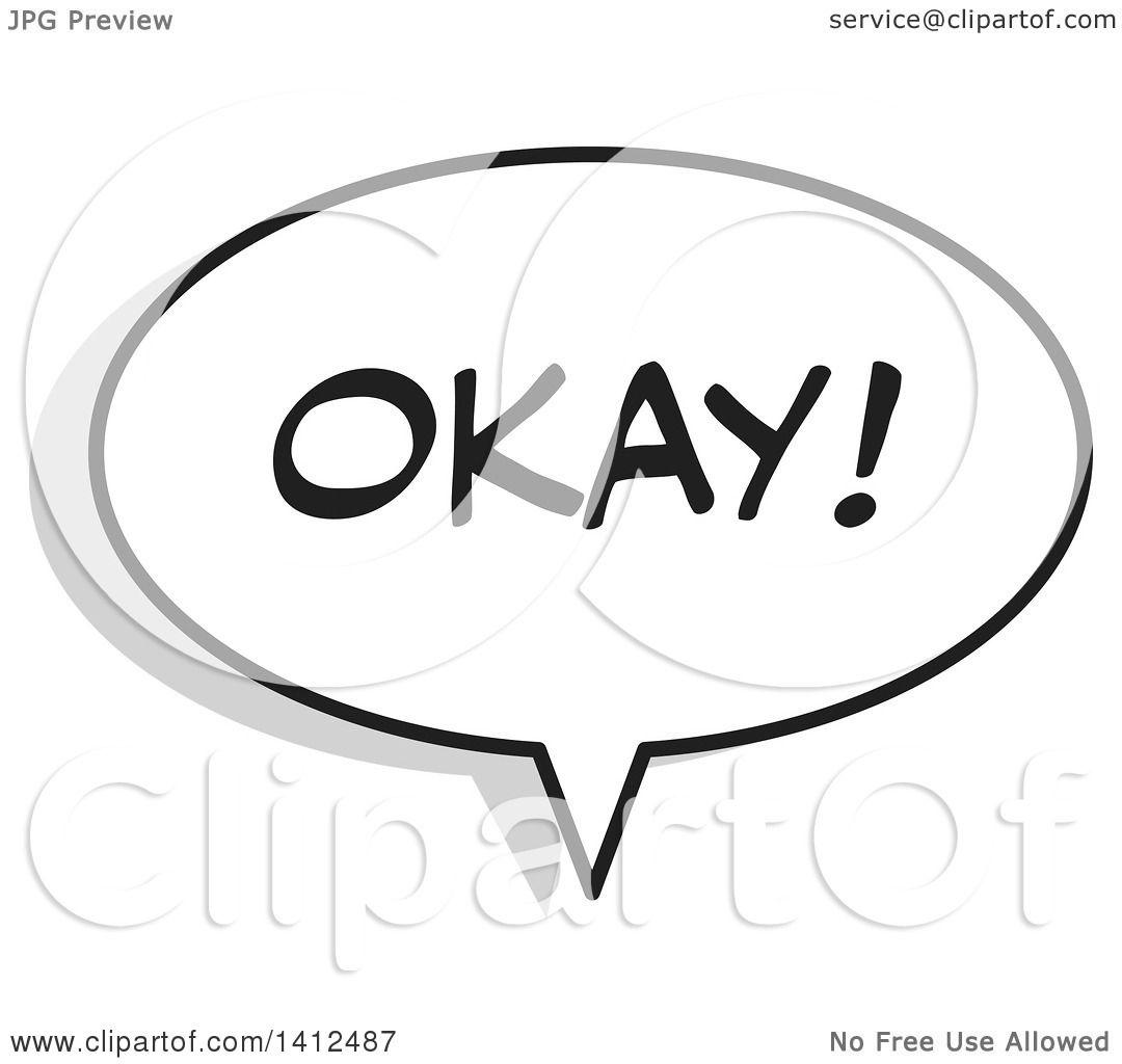 Clipart Of An Okay Word Speech Balloon