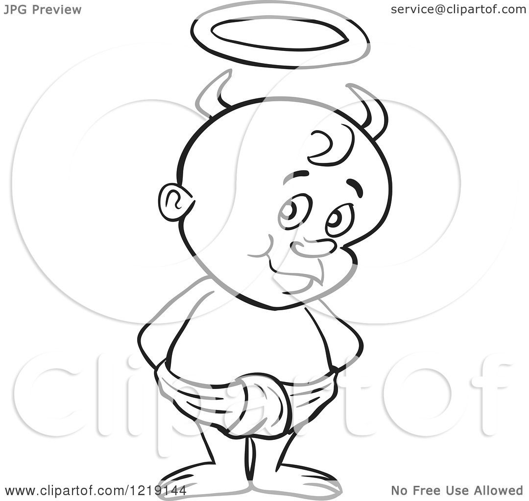 Baby In Diaper Clipart