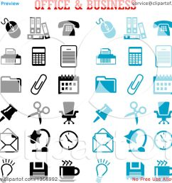clipart of black and blue office and business icons royalty free vector illustration by vector [ 1080 x 1024 Pixel ]
