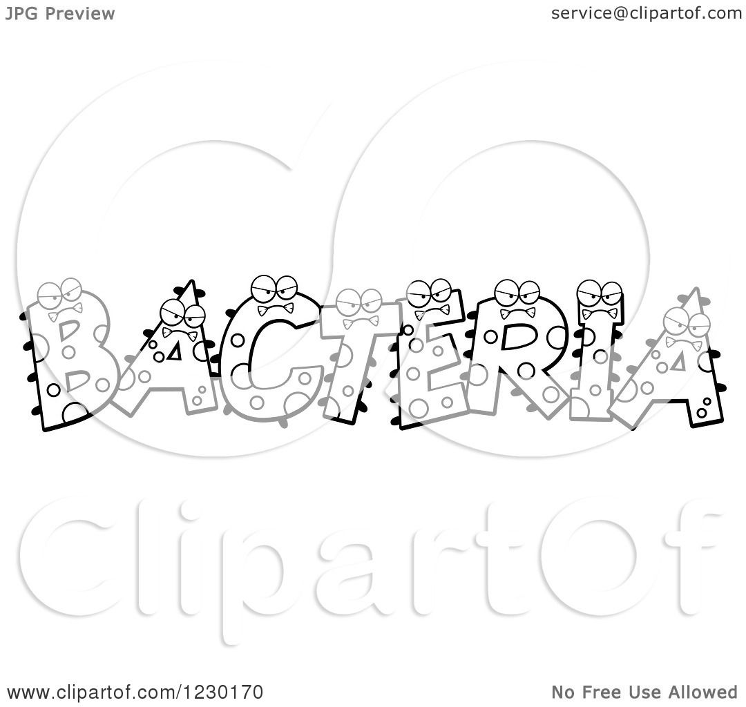 Clipart of Black and White Monsters Forming the Word