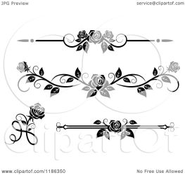 rose borders clipart vector royalty rules ornate illustration graphics tradition sm seamartini copyright