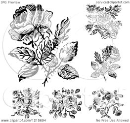 rose illustration designs clipart vector royalty bestvector clipartof without